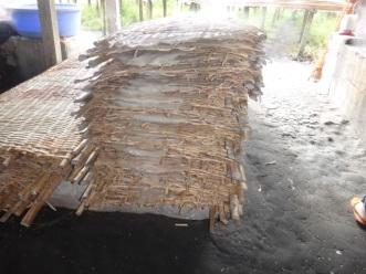Stacks of rice sheets