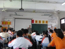 Alan in the classroom engaging 50 students!