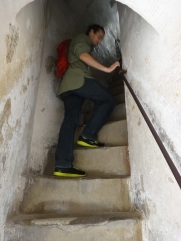 A steep and narrow climb to the top