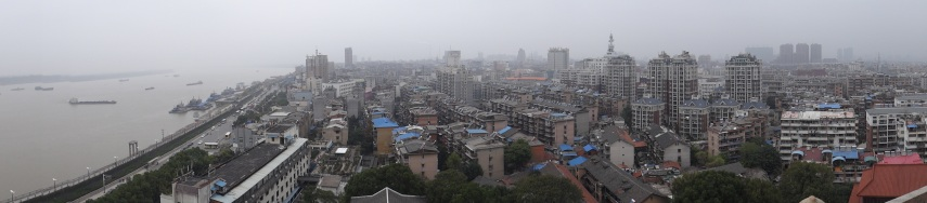 Panoramic of the view from the top of the temple
