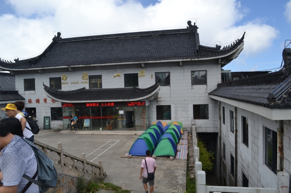 Camping up the mountain, Chinese style